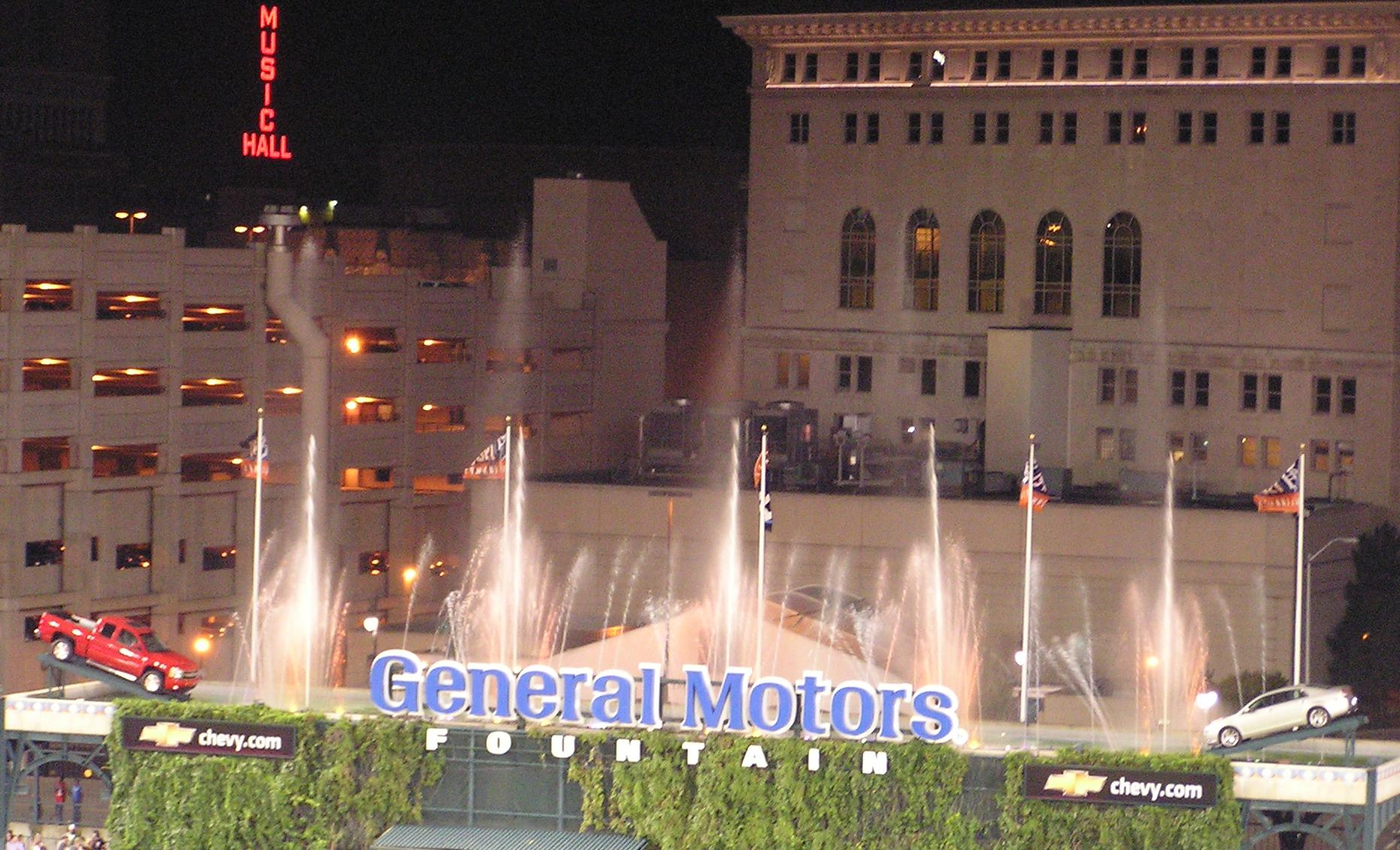 The General Motors Fountains - Comerica Park