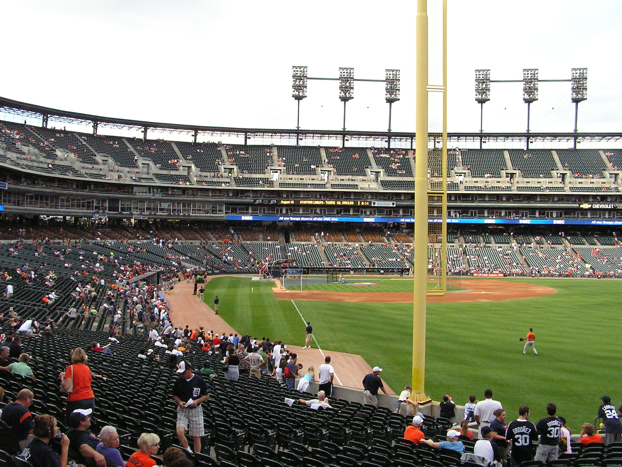 Looking in from RF - Comerica Park, Detroit