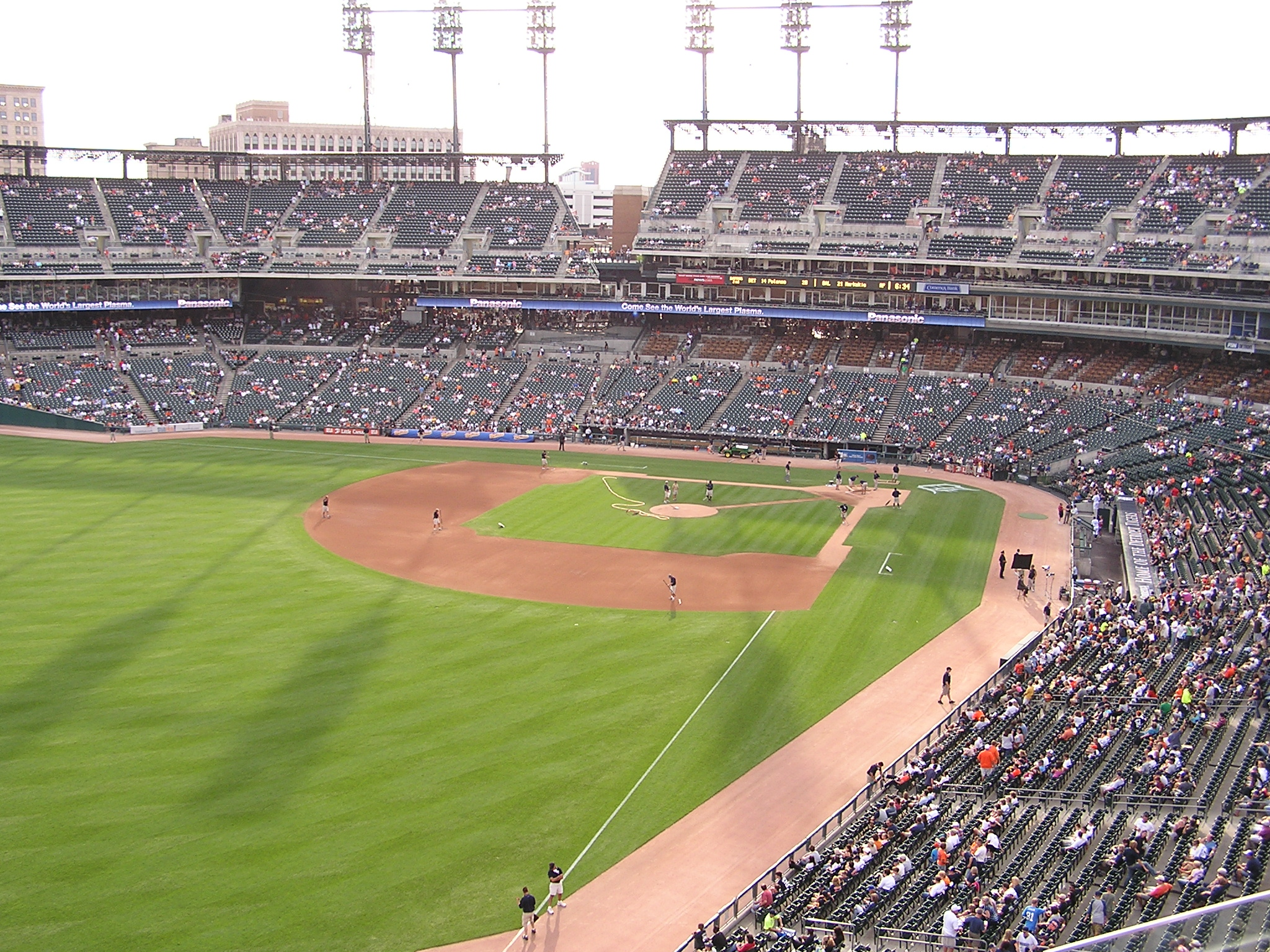 Looking in from Left Field, Comerica Park
