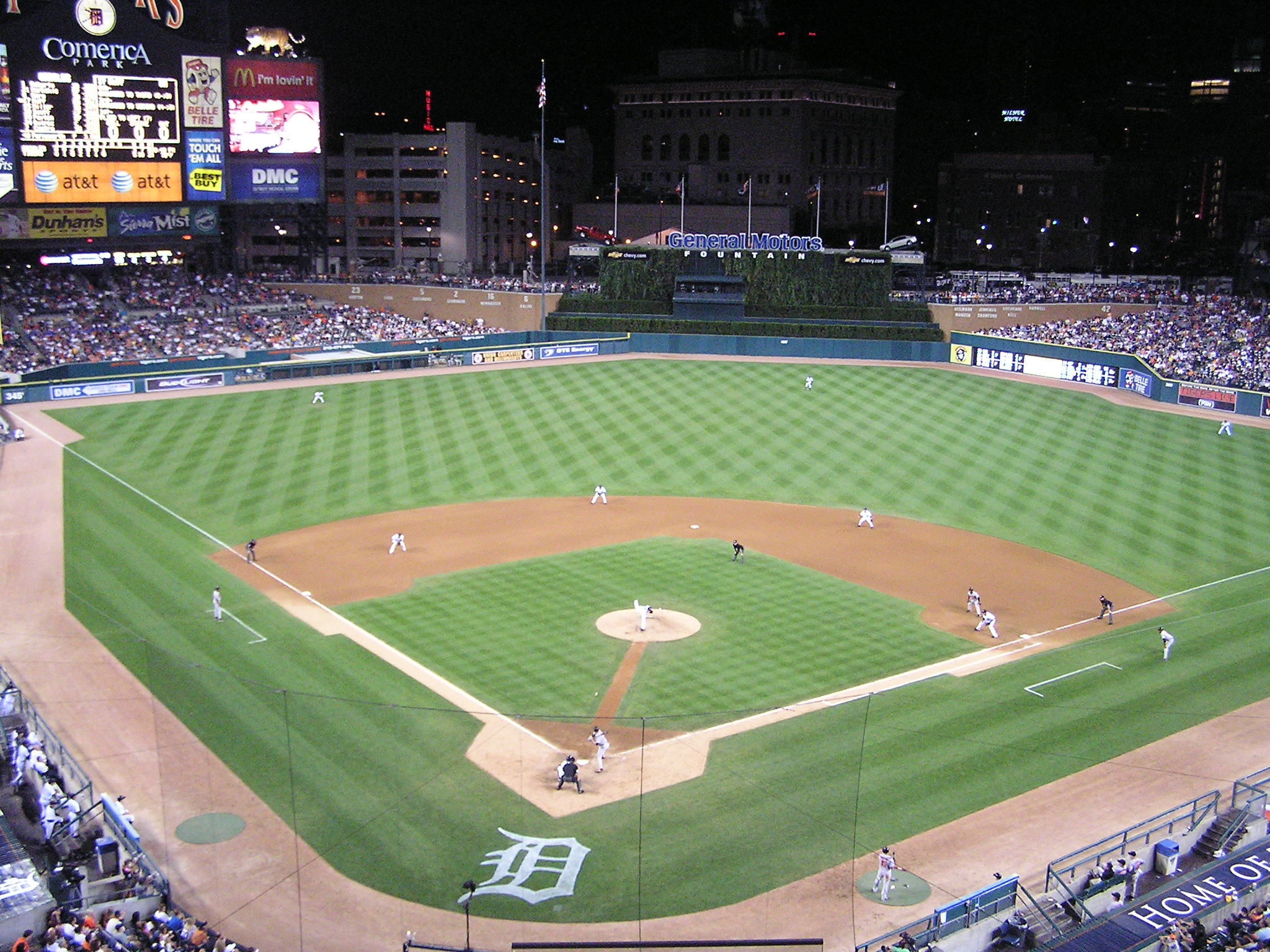 Game Action - Comerica Park - Home of the Tigers