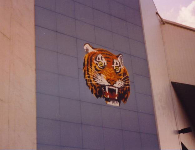 The Tiger on the exterior - Tiger Stadium
