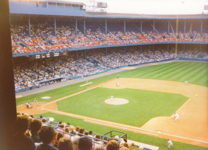 Tiger Stadium from the 1st base side
